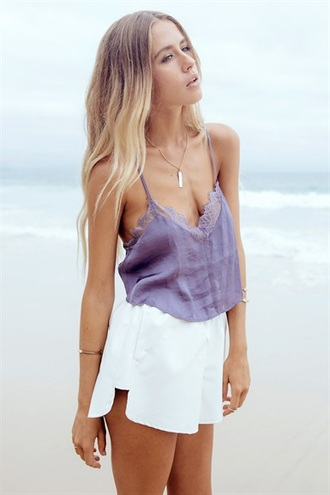 top pretty beach boho lace top purple lace beautiful top