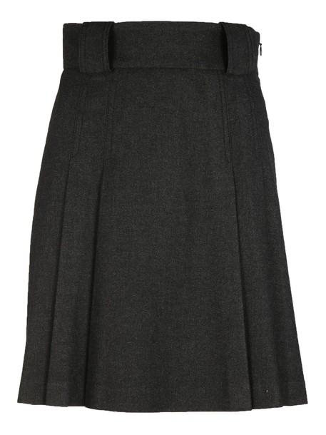 skirt pleated skirt pleated high