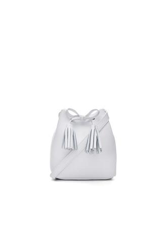bag bucket bag white