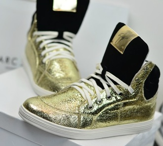 shoes giuseppe zanotti sneakers gold