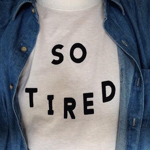 So tired white tshirt for women tshirts shirts by stupidfashion