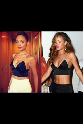 shirt crop tops celebrities rihanna nicole richie