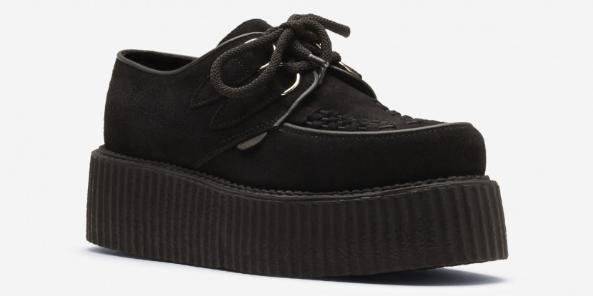 Underground Shop | Double Sole Wulfrun Creepers Black Suede | Shoes,Creepers,Underground,England
