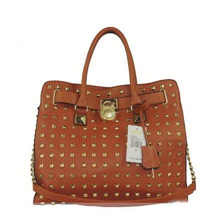 [grhmf22000102]Fashion Rivet Pure Color Lock Closure Handbag Shoulder Bag