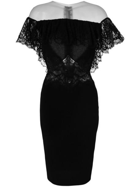 Rhea Costa dress women lace cotton black