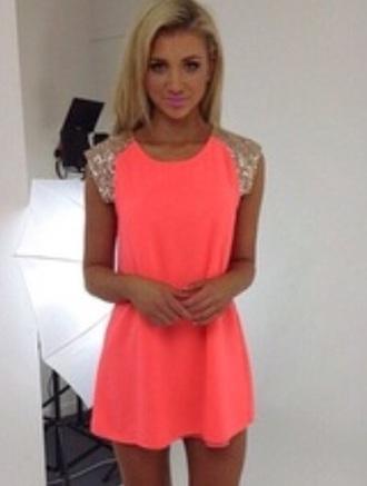 dress pink cute glitter dress