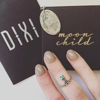 jewels shop dixi abalone sterling silver ring knuckle ring boho grunge goth