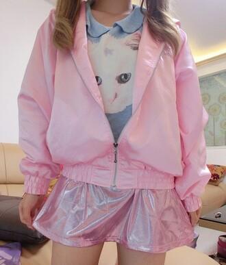 jacket windbreaker pink jacket pink windbreaker pink cats