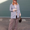 How to wear soft tones of blush and blue in winter