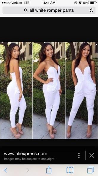 jumpsuit white jumpsuit romper pants