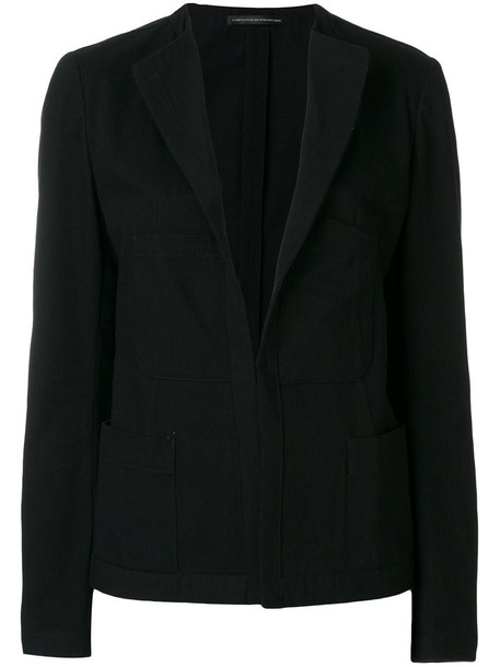 Y's jacket women fit cotton black
