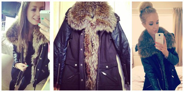 Jacket: winter outfits, blacky, fluffy, furry coat, winter coat ...