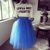 skirt,blue skirt,jersey