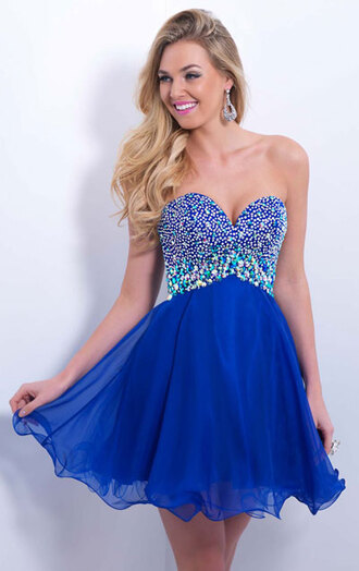 chiffon dress blue dress homecoming dress celebrity style