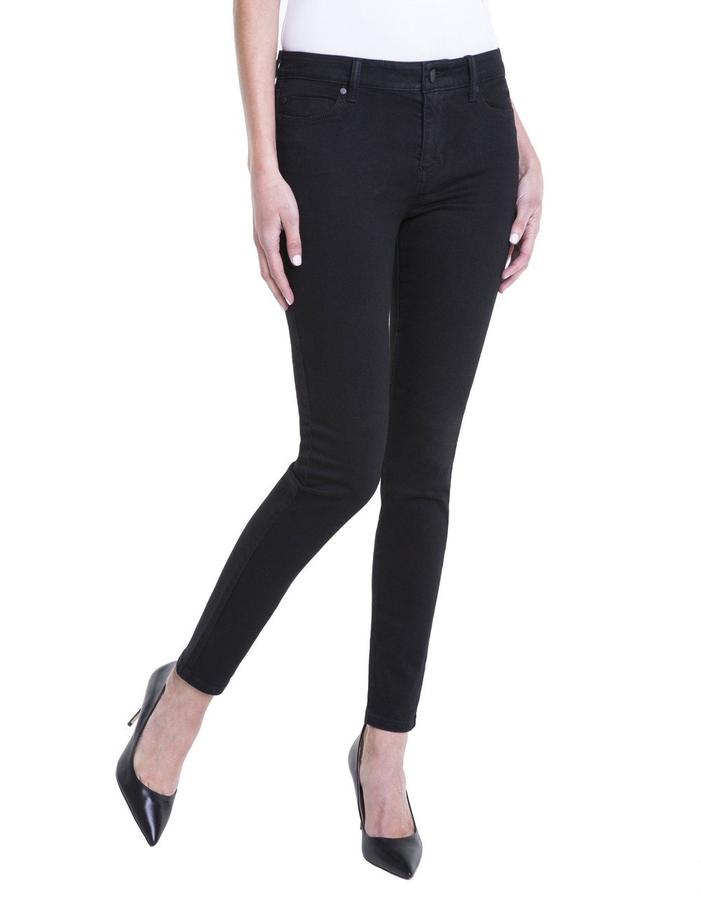 Liverpool Petite Abby Skinny Jeans in black