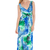 Cross Over Front Oceanic Print Maxi