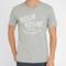 Tshirt palais royal gris maison kitsuné homme, t-shirts col rond gris homme