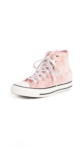 high sneakers rose tan white black shoes