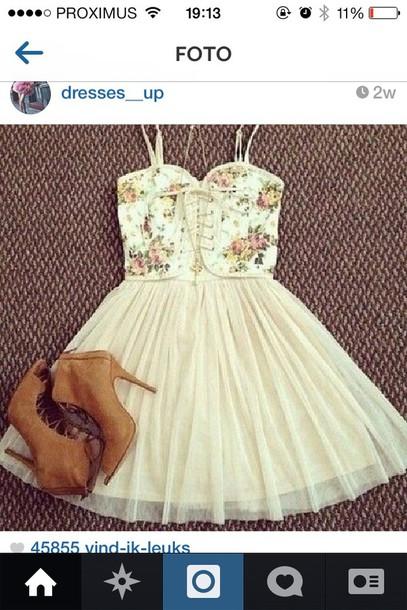 blouse floral dress dress lace up tutu dress tutu prom dress shoes heels suade shoes pink dress boots floral top style ballet dress puffy princess