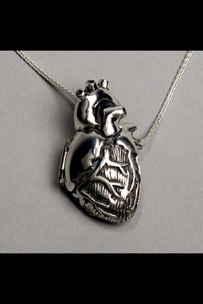jewels necklace heart jewelry silver necklace bag