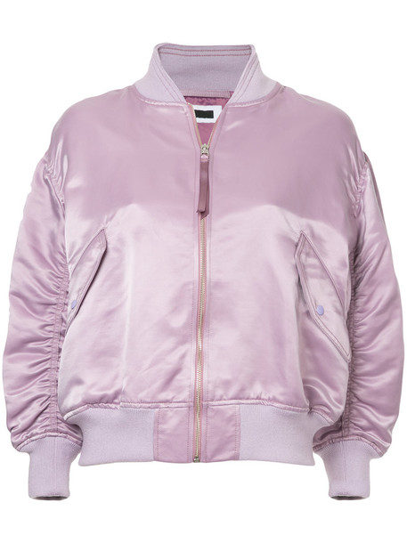 H Beauty & Youth jacket bomber jacket women cotton purple pink