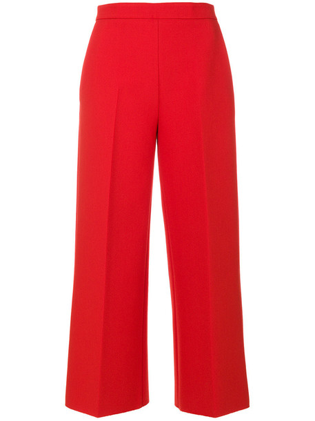 MSGM cropped women spandex red pants