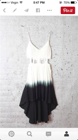dress dip dyed high low dress