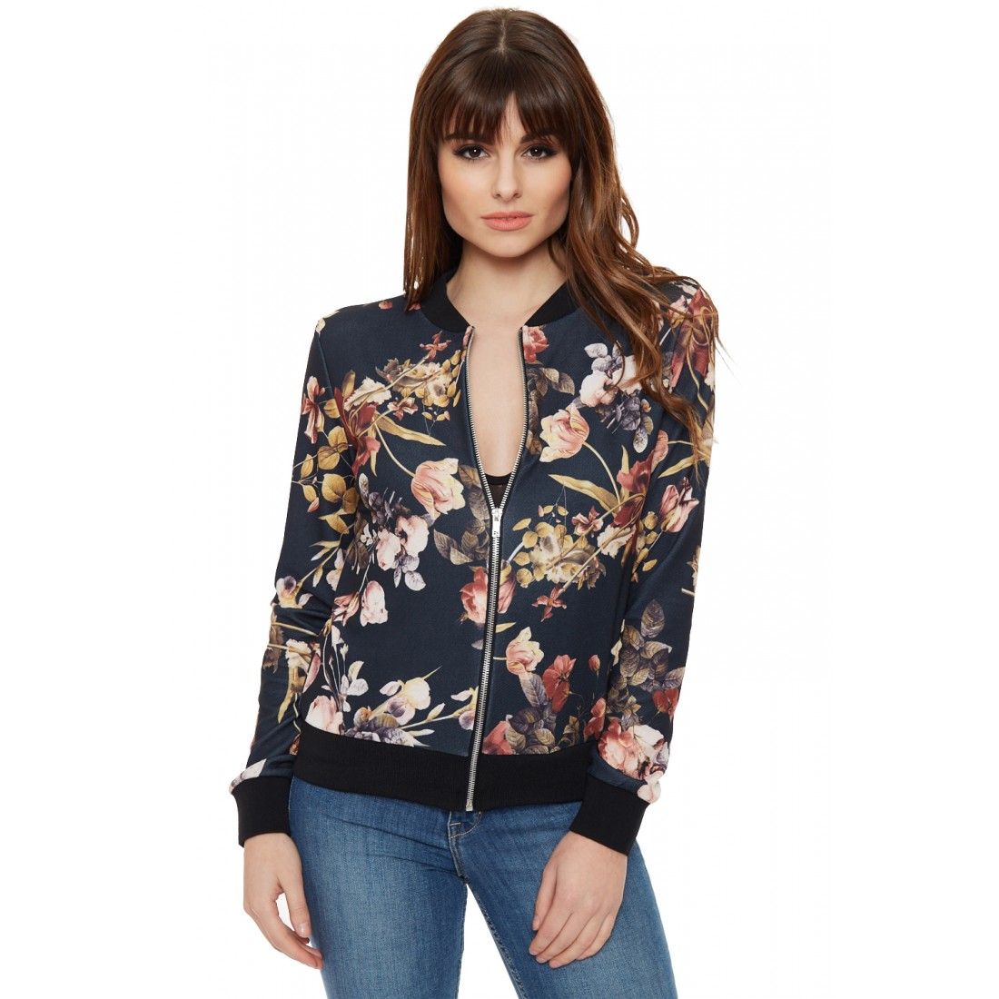 Floral Bomber Jacket Womens - JacketIn