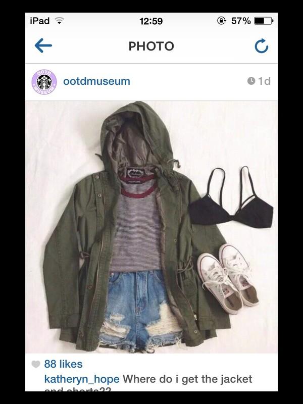 jacket khaki jaket underwear