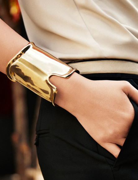 jewels gold bracelet bulky cuff gold bracelets