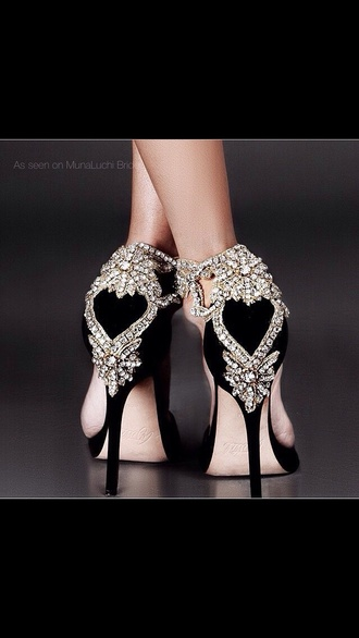 shoes high heel pumps heart diamonds heels high heels prom formal formal shoes formal. so awesome totally awesome