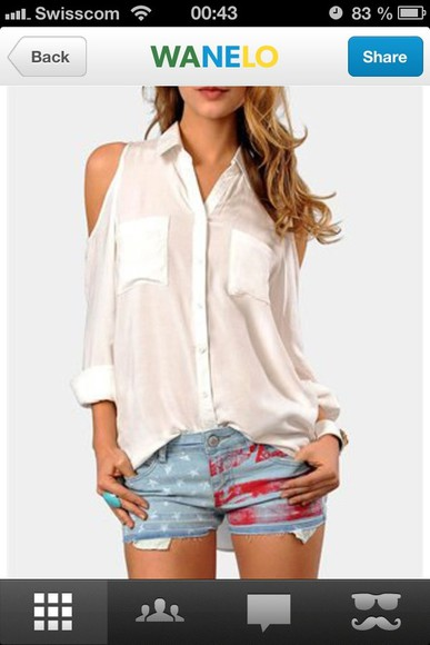 shift shirt white jacket sleeve transparent top white shirt transparent top long sleeve