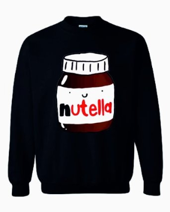 CRAZY PRINTS Nutella Sweatshirt: Amazon.co.uk: Clothing