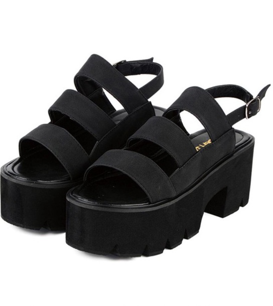 shoes girly girly wishlist black creepers platform shoes platform sandals
