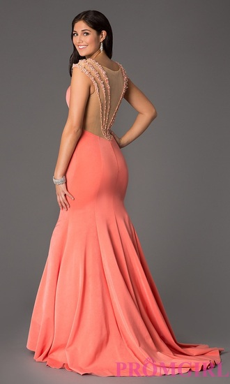 Coral Mermaid Prom Dress - Shop for Coral Mermaid Prom Dress on ...