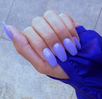 nail polish nails nail purple baby baby purple light color light color nails light color nail polish acrylic acrylic nails