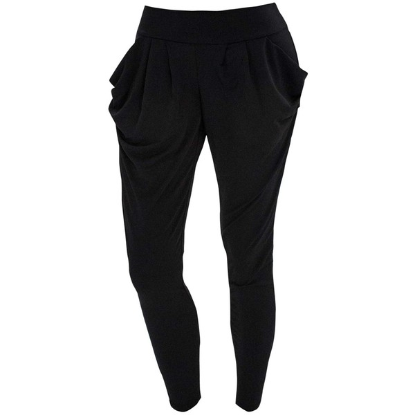 Stretchy Knit Harem Pants - Polyvore