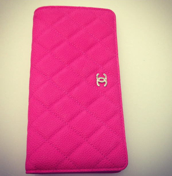bag pink chanel walet clutch