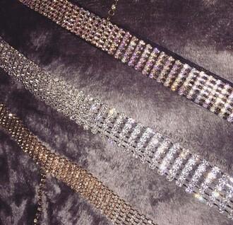 jewels diamonds diamond necklace choker necklace silver choker