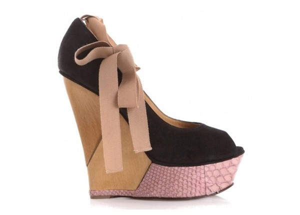 shoes wedges pink