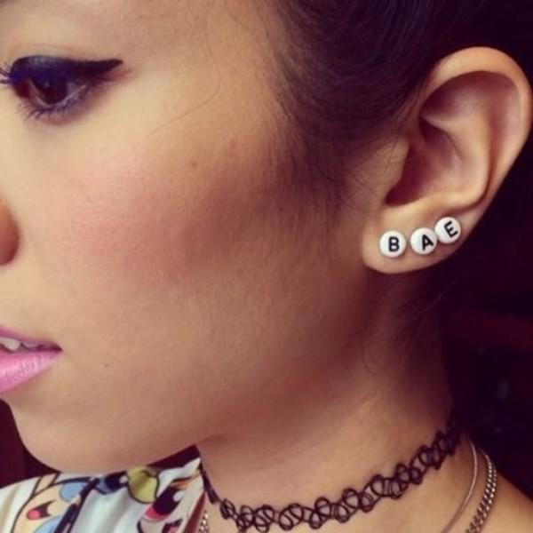 jewels bae earrings letters kid kawaii