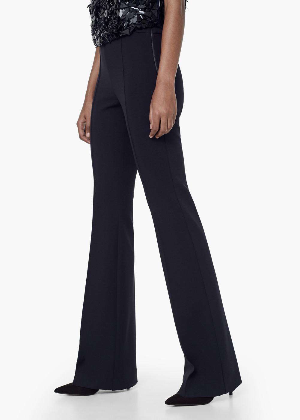 Premium - flared suit trousers - Women | MANGO