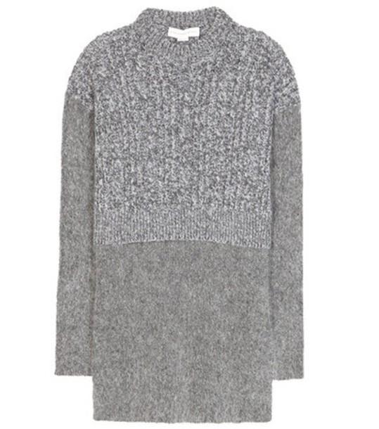 sweater mohair wool grey