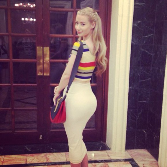 stripes top crop tops iggy azalea