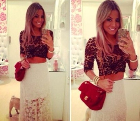 shirt leopard print dress top half shirt i like it cute not trashy skirt bag