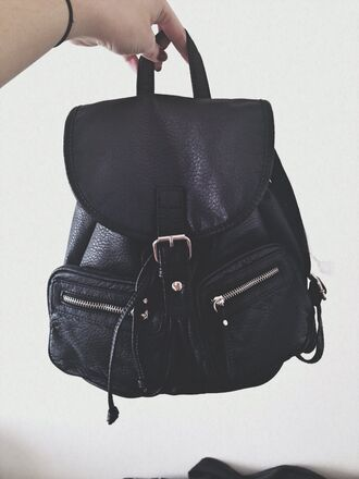 bag backpack leather black dark grunge tumblr leather bag