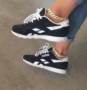 shoes black & white shoes reebok