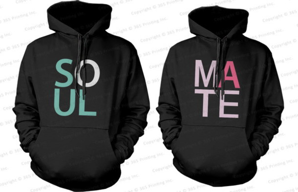 hoodie soulmate soul mate hoodies soul mate his and hers sweatshirts his and hers hoodies matching couples his and hers gifts wedding gifts honeymoon matching hoodies matching couple hoodies couple hoodies couple matching couples soul mate sweatshirts matching couple sweatshirts