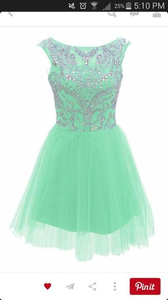 dress mint dress mint prom dress beaded dress short prom dress