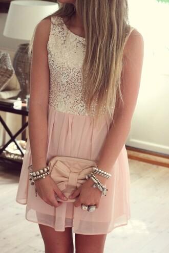 dress clothes sequin dress glitter dress pink dress sparkling dress pink glitter jewels sequins homecoming prom pastel dress